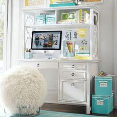 For daughter's rooms.  Elsie Desk + Hutch #pbteen