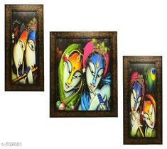 Paintings & Posters Radha Krishna Paintings (Set Of 3) Material: Wood & Plastic Size: (L x W) - Frame 1 - 5.2 in x 12.5 in Frame 2 - 9.5 in x 12.5 in Frame 3 - 5.2 in x 12.5 in Description: It Has 3 Pieces Of Wall Paintings Work: Printed Note: Glass Not Included Country of Origin: India Sizes Available: Free Size   Catalog Rating: ★4.1 (490)  Catalog Name: Spiritual Wall Paintings Vol 20 CatalogID_55286 C127-SC1611 Code: 023-502081-756