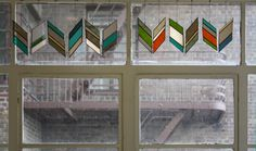 Stained Glass Chevron Elements (14 pieces)