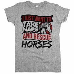 'I Just Want To Take Naps And Rescue Horses