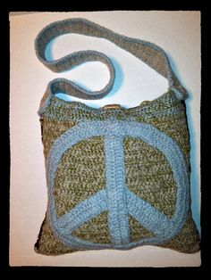 Peace BagCrocheted/Felted by peacelovecreations on Etsy, $50.00