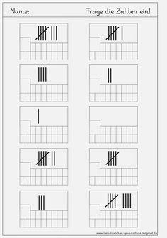 Lernstübchen: Ziffern schreiben