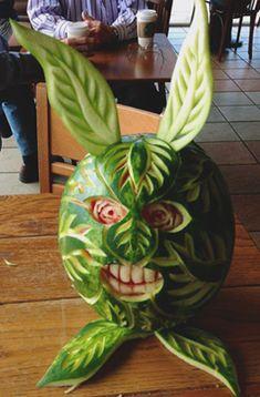 Crazy watermelon bunny by Carl Jones
