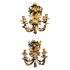 Pair Of Wall Lights / Sconces - Century Five-Light French Rococo Bronze Wall Sconce Lighting, Candle Sconces, Adam Style, Vintage Wall Lights, Modern Wall Sconces, Contemporary Lamps, Antique Auctions, French Furniture, Belle Epoque