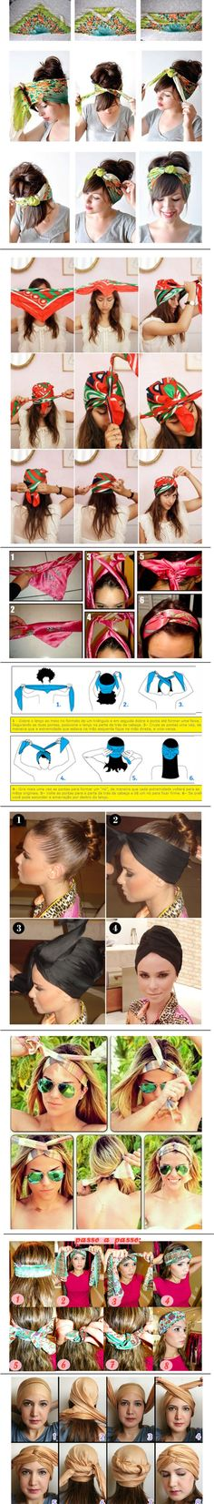 Step by Step How to Wear a Turban – Headscarf – Casual Hair Styles Scarf Hairstyles, Messy Hairstyles, Curly Hair Styles, Natural Hair Styles, Pin Up Style, How To Make Hair, Hair Today, Hair Dos, Hair Hacks