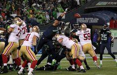 Red Bryant blocking a field goal. 2012