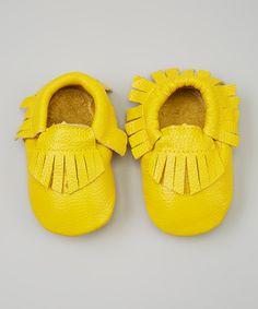 sunny yellow baby moccs
