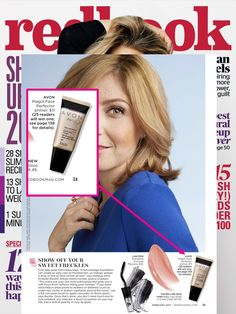 @redbookmag featured Avon MagiX Face Perfector Primer as a great clear primer that won't hide freckles.