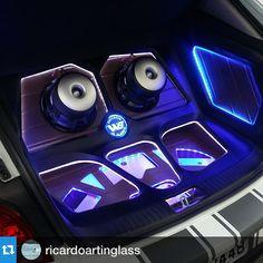 Car Audio 411 jl audio car stereo custom sub amp enclosure.  leds plexi plexiglass eyes