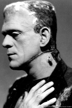 The Frankenstein Monster. Boris played the monster in 3 movies . Horror Monsters, Scary Monsters, Famous Monsters, Horror Icons, Horror Films, Horror Art, Scary Movies, Old Movies, Comedy Movies