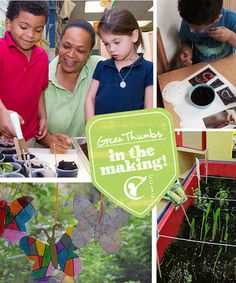 How does our garden grow? With seeds and water and plenty of care...and curious kids in a row. www.kindercare.com