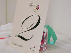 numero de mesa casamiento