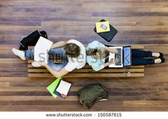 stock-photo-top-view-of-male-and-female-university-students-studying-150587615.jpg (450×320)