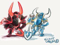 Shovel Knight by Hitoshi Ariga / 有賀ヒトシ (Story of Thor / Beyond Oasis, Pokémon, Rockman).