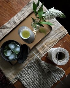 "Ole Marius Tørrisen på Instagram: ""Iced shincha and linen knitting."""