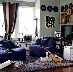 vinil 1 Dicas de decoração para quartos masculinos