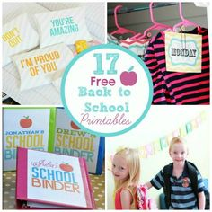 Get Kids Organized: 17 FREE Back to School Printables