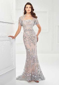 Montage by Mon Cheri 118961 Silver Mother Of The Bride Dress