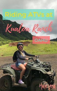 ATV Tour on Oahu at Kualoa Ranch + best things to do at Kualoa Ranch including zipline and horseback riding