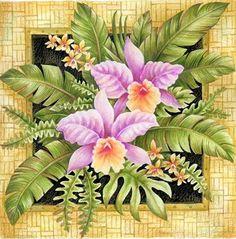 Orchids in frame Botanical Prints, Floral Prints, Art Carte, Decoupage Paper, Fruit Art, Fabric Painting, Pretty Pictures, Clip Art, Flower Designs