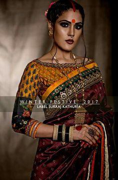 Kalamkari designed blouse by Surraj Kathuria