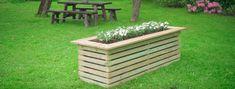 Landscape Design, Garden Design, Garden Seating, Wooden Garden, Outdoor Furniture Sets, Outdoor Decor, Lush Green, Raised Garden Beds, Backyard Landscaping