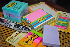 3M Post-It Notes -- numerous styles and colors