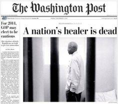 """""""Une"""" du Washington Post."""