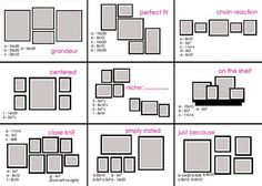 Picture hanging layouts
