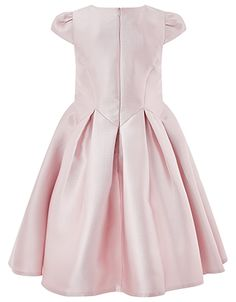 Our Yumiko Duchess dress for girls is fit for young royalty. Crafted with a satiny sheen, this piece offers delectable cap sleeves and structured pleats. Fea...