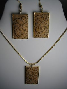 Grape Vine Necklace earring set by sarahracha on Etsy, $25.00