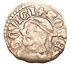 """HUNGARY Louis The Great (1342-1382) Silver Denar Coin EH#432 """"Saracen head"""" - http://coins.goshoppins.com/medieval-coins/hungary-louis-the-great-1342-1382-silver-denar-coin-eh432-saracen-head-3/"""
