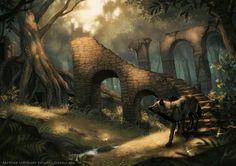 Fantastic Wolves Digital Paintings by British Artist Johanna Tarkela Illustration  www.johannatarkela.com  lhuin.deviantart.com