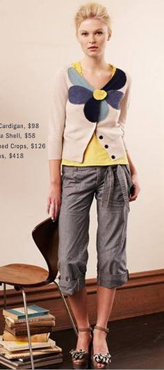 Anthropologie Outfit: Love the cardigan and texture
