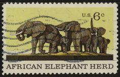 elephant postage stamp usa