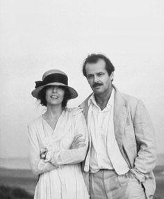 Diane Keaton & Jack Nicholson, 1981 - A Conversation On Cool - black and white - preto e branco