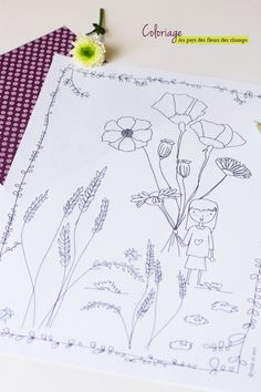 ROSE ET VERT: Printable - Coloriage