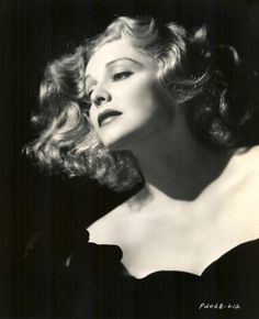 Finger Waves are totally making a comeback... Classic, Stylish, Madeleine Carroll