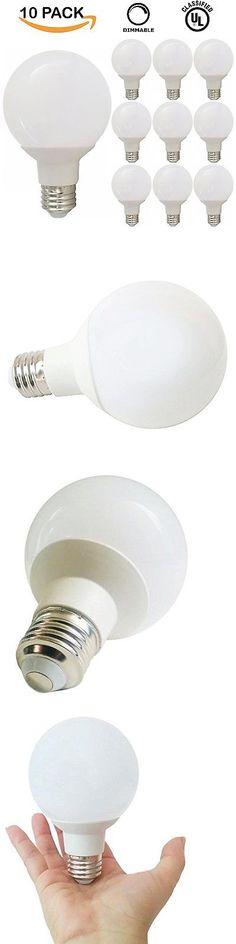 Light Bulbs 20706: 10 Pack 6W Dimmable G25 Led Light Bulb Daylight 5000K 40W Equivalent Vanity Ul -> BUY IT NOW ONLY: $53.51 on eBay!