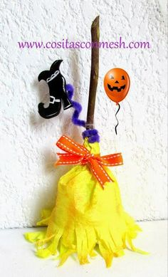 Halloween Treat Holder.     Dulcero Halloween con papel crepe | Aprender manualidades es facilisimo.com.