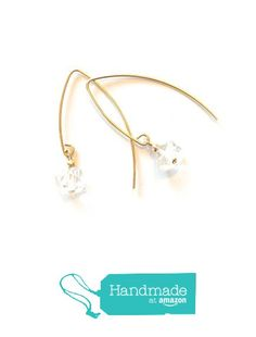 Stunning! Herkimer diamond earrings with 14K gold filled ear wires - a lovely gift for her from Lore & Meaning https://www.amazon.com/dp/B072NGRQMN/ref=hnd_sw_r_pi_dp_cWNrzb3B1J300 #handmadeatamazon