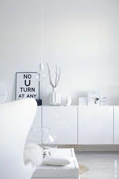 Simple White IKEA Besta hanging storage