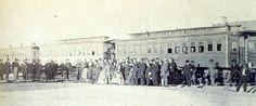 Arrival of Union Pacific officials, Laramie City, June, 1868.