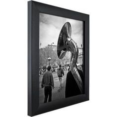 Craig Frames Contemporary Picture Frame, Assorted Colors and Sizes, Black
