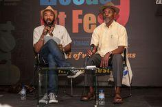 Linton Kwesi Johnson with Anthony Joseph Port of Spain, 2014