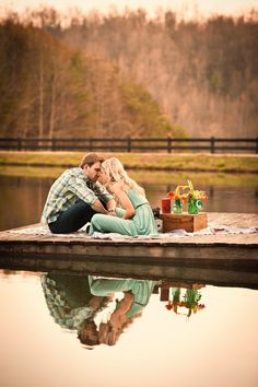 We could do picnic photos on the dock... Style Me Pretty | Gallery & Inspiration |