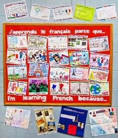 Why learn French? Why Learn French, How To Speak French, School Displays, Classroom Displays, Classroom Ideas, Classroom Organization, Classroom Layout, Classroom Procedures, Classroom Tools