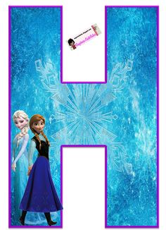 Frozen: Free Elsa and Ana Alphabet. Frozen: Bello Alfabeto Gratis de Elsa y Ana. Frozen Birthday Party, Frozen Party, Happy Birthday, Birthday Themes For Boys, Birthday Party Themes, Alphabet, Frozen 1, Frozen Free, Party Printables