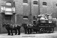 Hahnemuhle PHOTO RAG Fine Art Paper (other products available) - Horse drawn delivery wagon at Paddington Mint Stables, - Image supplied by STEAM Museum of the GWR - Fine Art Print on Paper made in the UK Fine Art Prints, Framed Prints, Canvas Prints, Framed Wall, Great Western, Horse Drawn, Stables, Poster Size Prints, A Team