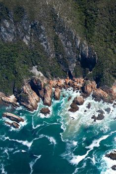 The most dramatic segment of the Garden Route lies just east of Plettenberg Bay. For about 50 miles, the landscape is one of forests, gorges, waterfalls and vertiginous cliffs. Known as Tsitsikamma, the area was incorporated into the larger Garden Route N Hiking Routes, Hiking Europe, Bay Area Hikes, Northern California Travel, Hiking Photography, San Francisco Travel, Best Hikes, Gardening For Beginners, Aerial View